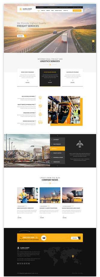 ออกแบบเว็บไซต์บริษัทขนส่ง